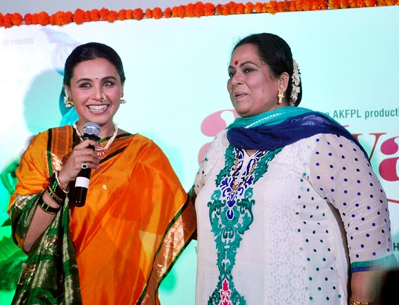 Rani Mukerji with her onscreen mother Nirmiti Sawant