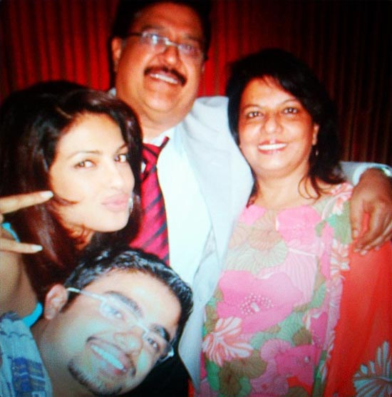 Priyanka Chopra, father Ashok, mother Madhu and brother Siddharth