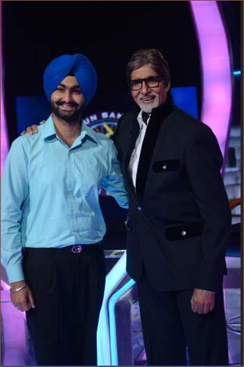 Kanwar Surtej Singh and Amitabh Bachchan