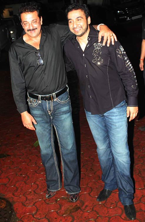 Raj Kundra and Sanjay Dutt