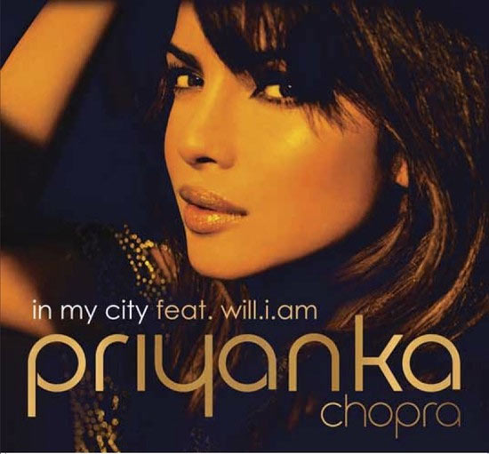 Priyanka Chopra on the CD cover of In My City