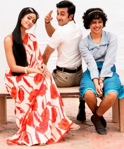 Ileana D'Cruz, Ranbir Kapoor and Priyanka Chopra