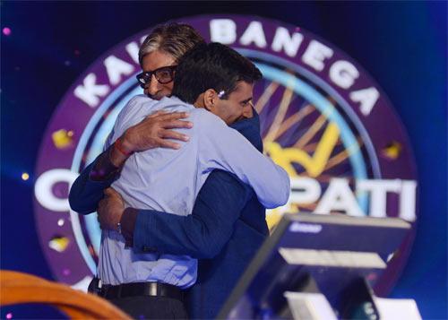 Amitabh Bachchan and Manoj Kumar Raina