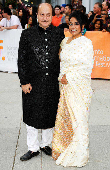 Anupam Kher and Seema Biswas
