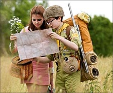 A scene from oonrise Kingdom