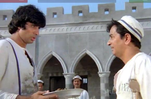 Amitabh Bachchan and Ram Sethi in Kaalia