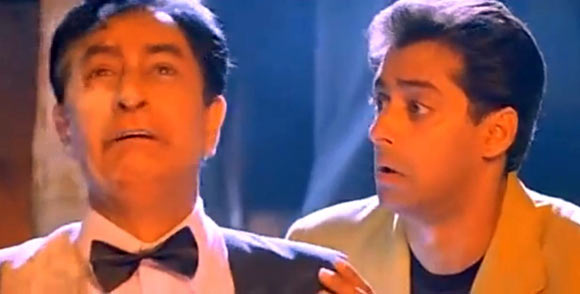 Ram Sethi and Salman Khan in Judwaa
