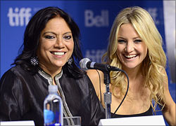 Mira Nair and Kate Hudson at TIFF