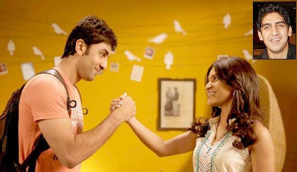 Ranbir Kapoor and Konkana Sen Sharma in Wake Up Sid. Inset: Ayan Mukherjee