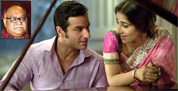 Saif Ali Khan and Vidya Balan in Parineeta. Inset: Pradeep Sarkar