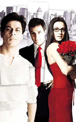 Shah Ruk Khan, Saif Ali Khan and Preity Zinta in Kal Ho Na Ho