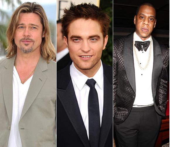 Brad Pitt, Robert Pattinson and Jay Z