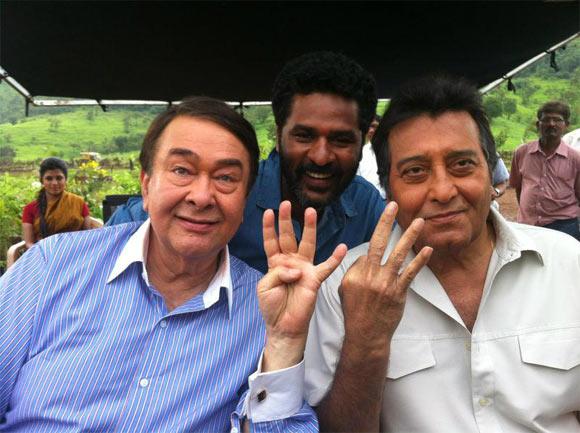 Randhir Kapoor, Prabhu Deva and Vinod Khanna
