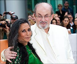Deepa Mehta and Salman Rushdie at TIFF