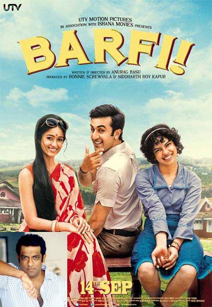 The Barfi! poster. Inset: Anurag Basu