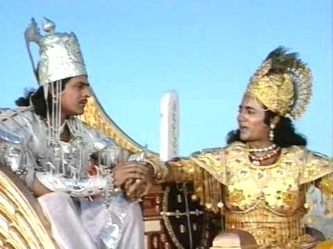 Nitish Bharadwaj (right) in Mahabharat