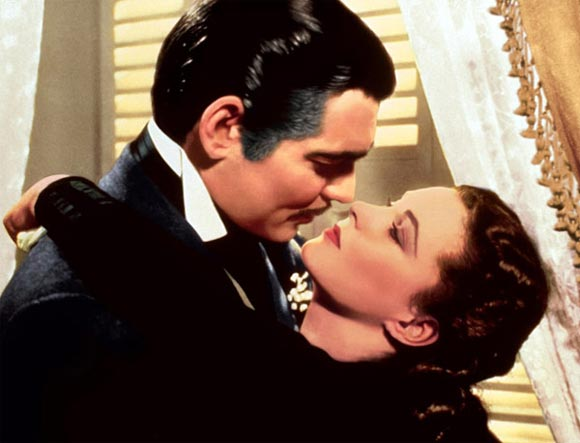 Clark Gable and Viviene Leigh in Gone With The Wind