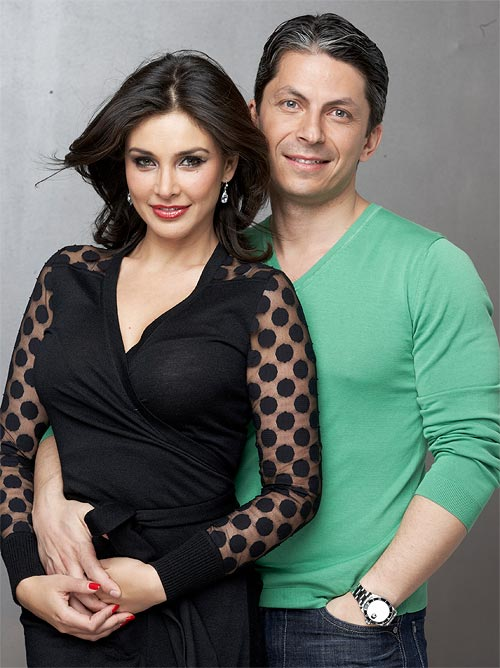 Lisa Ray and Jason Dehni