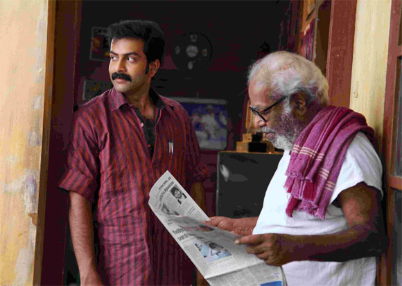 Prithviraj and Thilakan in Indian Rupee