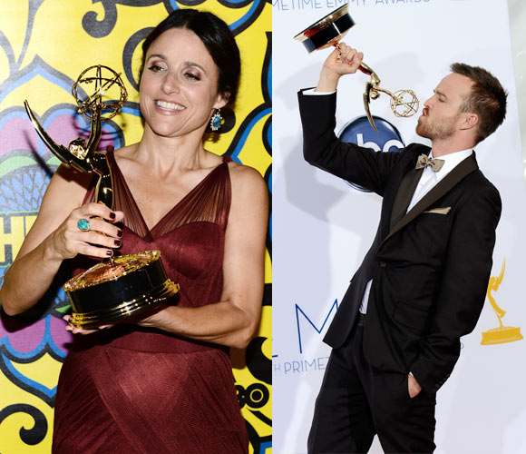Julia Louis-Dreyfus  and Aaron Paul