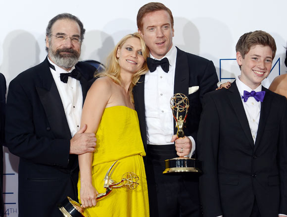 Mandy Patinkin, Claire Danes, Damian Lewis and Jackson Pace