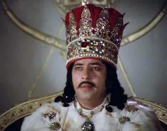Amjad Khan as Wajid Ali Shah in Shatranj Ke Khilari