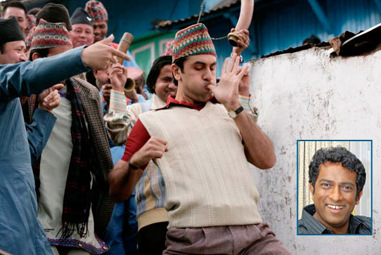 A scene from Barfi. Inset: Anurag Basu