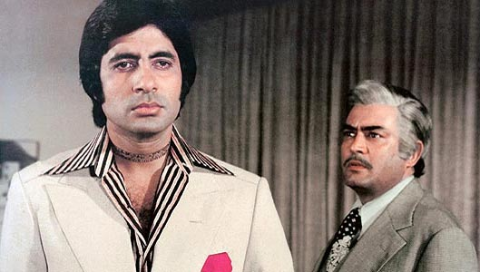 Amitabh Bachchan and Sanjeev Kumar in Trishul