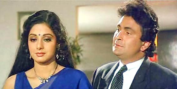 Rishi Kapoor and Sridevi in Chandni