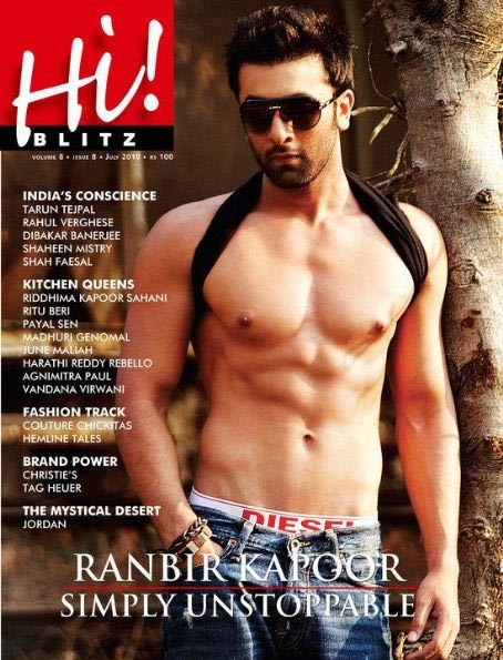 Ranbir Kapoor on a magazine cover