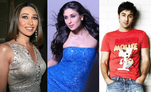 Ranbir Kapoor, cousins Karisma and Kareena