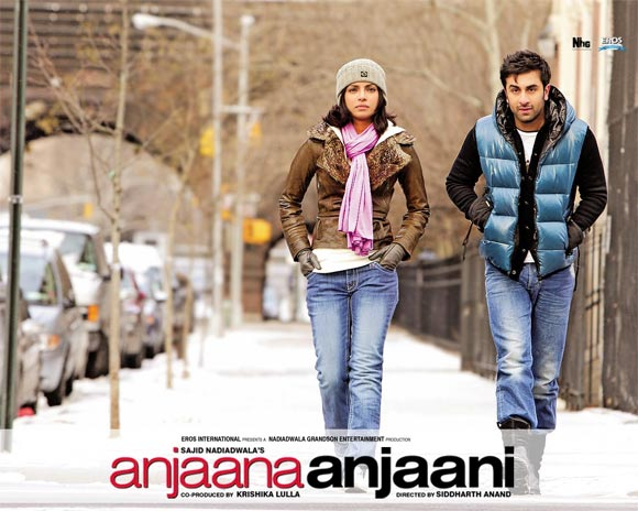 Movie poster of Anjaana Anjaani