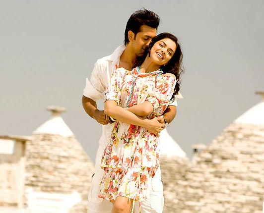 Ranbir Kapoor with Deepiak Padukone in Bachna Ae Haseeno