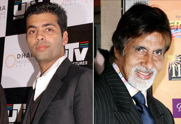 Karan Johar and Amitabh Bachchan