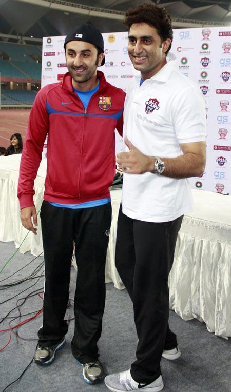 Ranbir Kapoor and Abhishek Bachchan