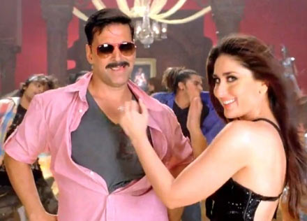 Akshay Kumar and Kareena Kapoor in Rowdy Rathore