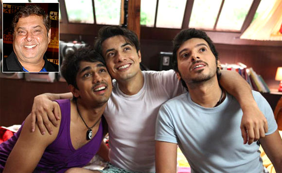 Siddharth, Ali Zafar and Divyendu Sharma in Chashme Baddoor. Inset: David Dhawan