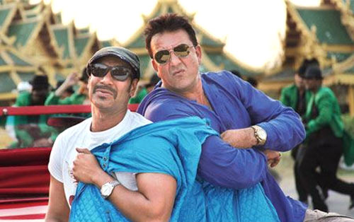 Ajay Devgn and Sanjay Dutt in Rascals
