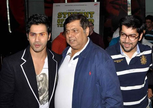 David Dhawan with sons Varun and Rohit