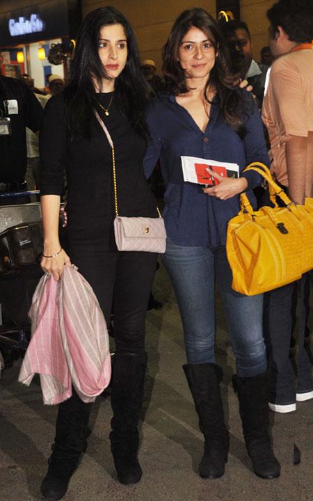 Maheep Kapoor and Bhavna Pandey