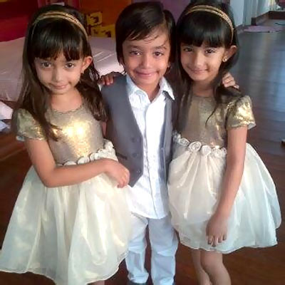 Farah Khan's kids, from left to right: Czar and daughters Diva and Anya