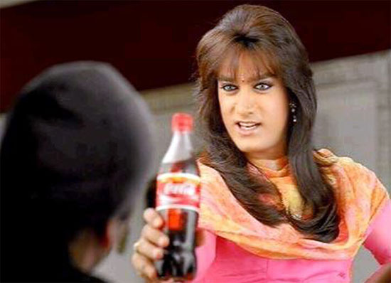 Aamir Khan in a Cola ad