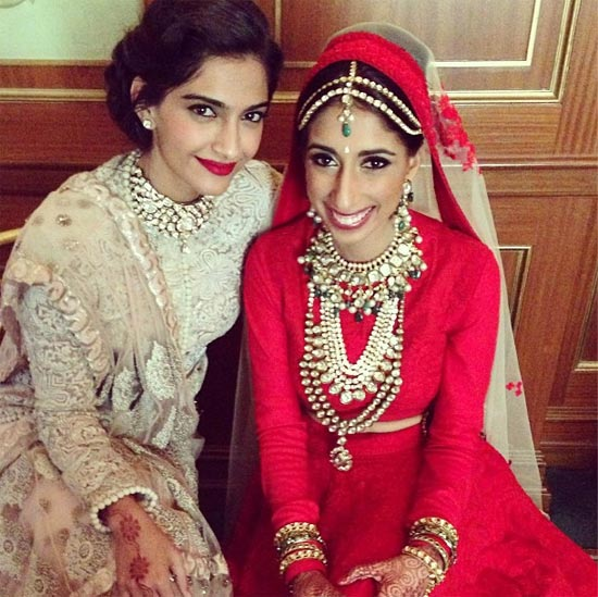 Sonam Kapoor with her friend