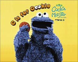 Cookie Monster on Sesame Street