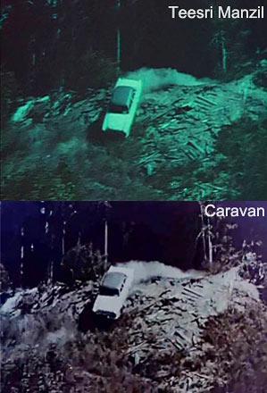 Above: Teesri Manzil and below, Caravan