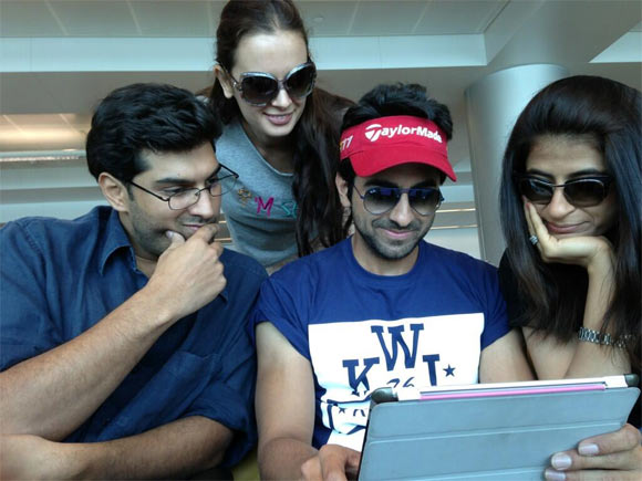 Kunal Roy Kapoor, Ayushmann Khurana and Evelyn Sharma