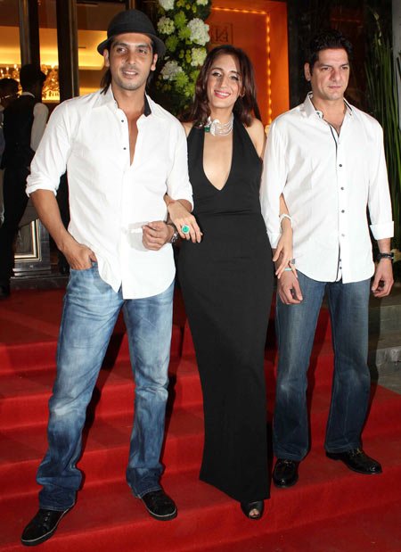 Zayed Khan, Farah Khan Ali and DJ Aqeel