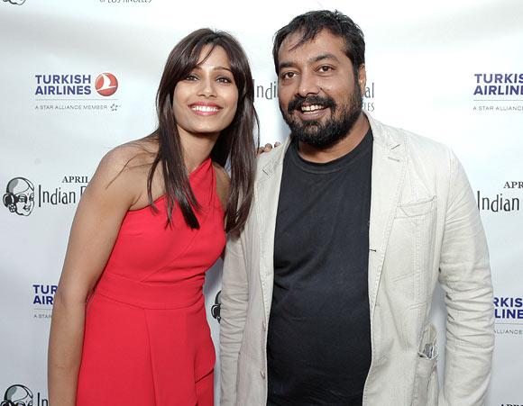 Freida Pinto and Anurag Kashyap