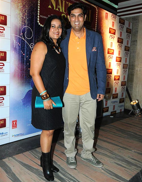Kunaal Roy Kapur with wife Shayonti