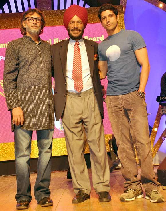 Rakyesh Omprakash Mehra, Milkha Singh and Farhan Akhtar